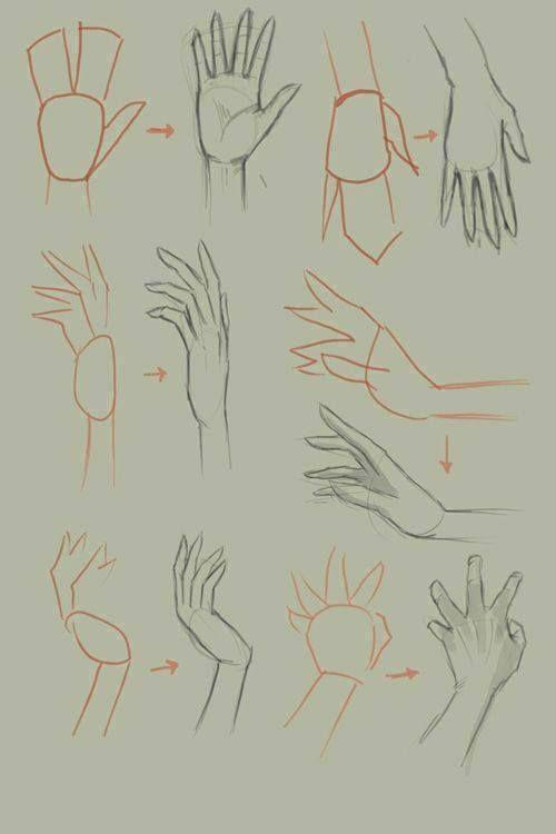 desenho de mãos / hands Treinando
