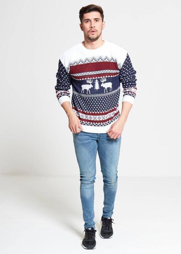 Rentier Weihnachtspullover für Herren ❤ Unser KLASSIKER