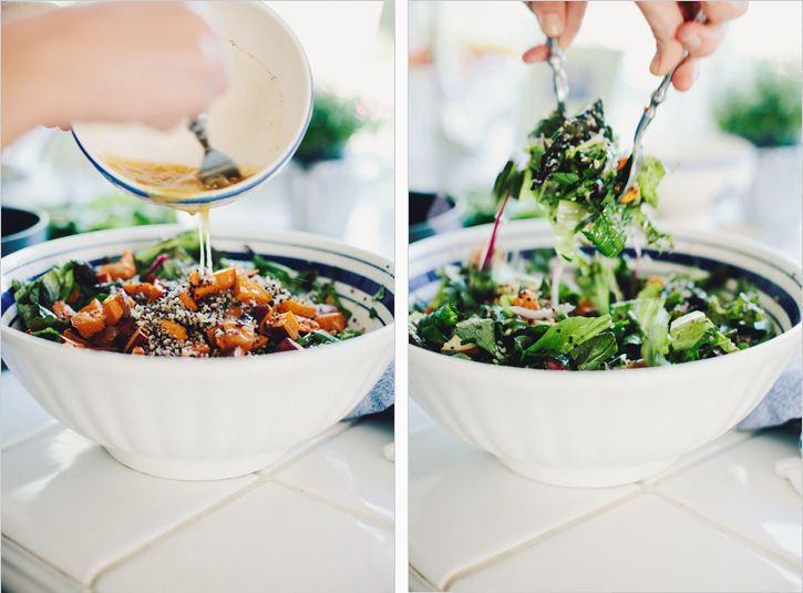 chopped salad with quinoa, sweet potatoes + apples // via sprouted kitchen