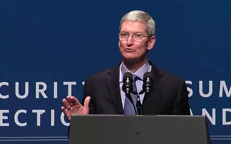 Tim Cook, fue a la Cumbre de Seguridad Cibernética, para hablar sobre Ciberseguridad y Protección del Consumidor.