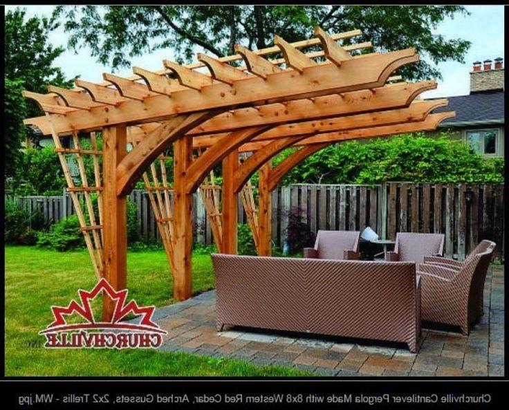 Architecture Cantilevered Pergola Kits Cantilever Pergola
