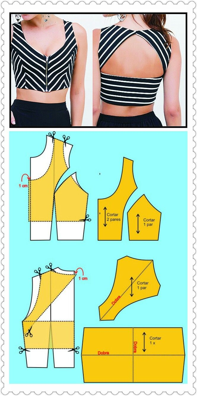 Crop top pattern
