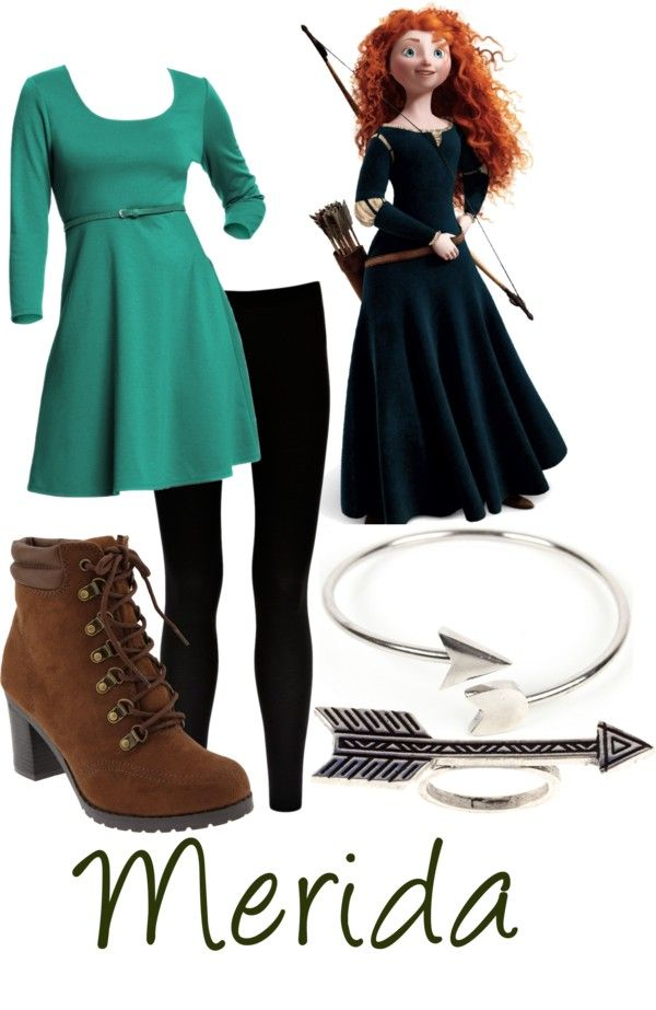 modern princess Merida outfit. I would totally wear this---just no heels on the boots.