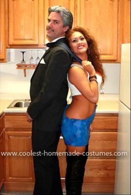 Homemade Vivian and Edward from Pretty Woman Couple Costume: Pretty Woman is my favorite movie of all times and I have wanted to be Vivian for Halloween for years. I finally decided to make the costume this year.