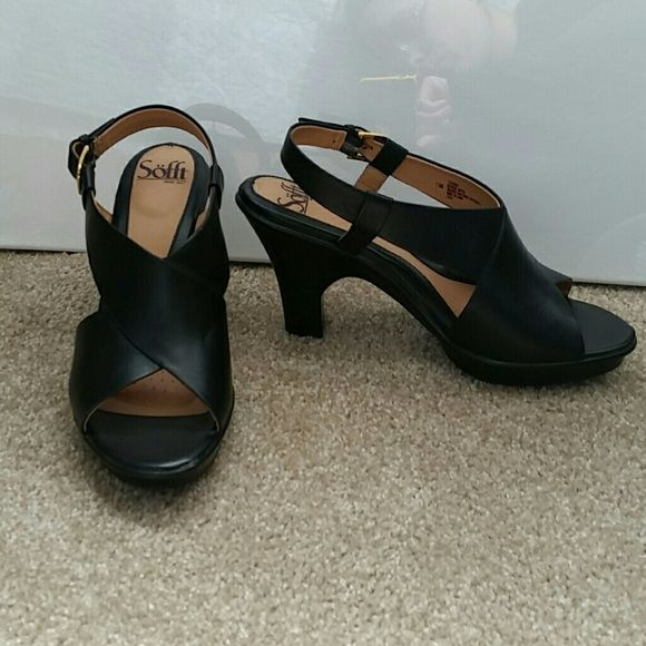 Sofft High Heel Sandals Excellent condition Sofft heels. Only worn a few times.  Size 7.5. Leather upper. Sofft Shoes Sandals
