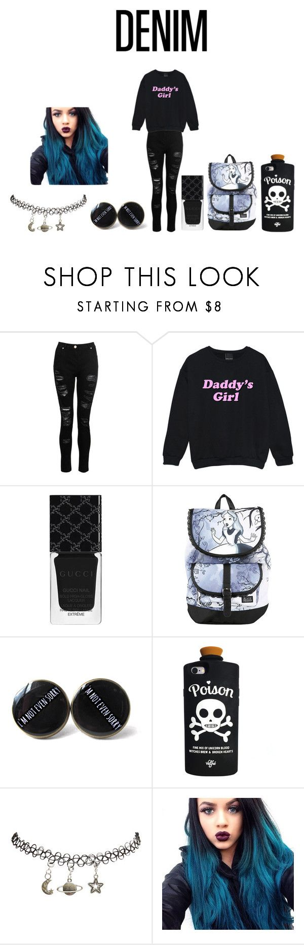 """""""Untitled #455"""" by music-of-the-worlds on Polyvore featuring Dorothy Perkins, Gucci, Disney, Valfré and Wet Seal"""