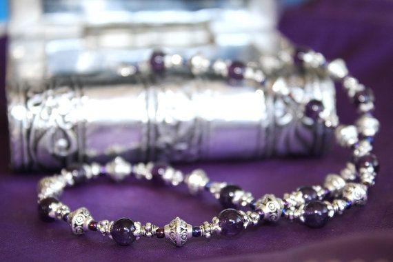 Amethyst Crystal Necklace by @myVardo #amethyst #bohemianstyle #moroccan #jewellery #birthstone #handmade #beadingaustralia #etsyshop
