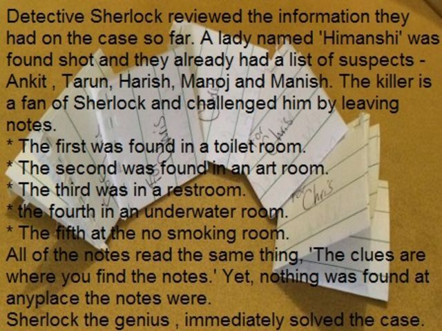 Do your best Sherlock imitation and solve these classic murder mysteries if you can.  See more great stuff at http://www.chaostrophic.com/5-murder-riddles-solve-can/