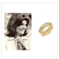 The Unity Ring given to Jackie by Bobby when he began his Presidential campaign in 1968, as a tribute to her connection and dedication to the Kennedy family. Description from pinterest.com. I searched for this on bing.com/images