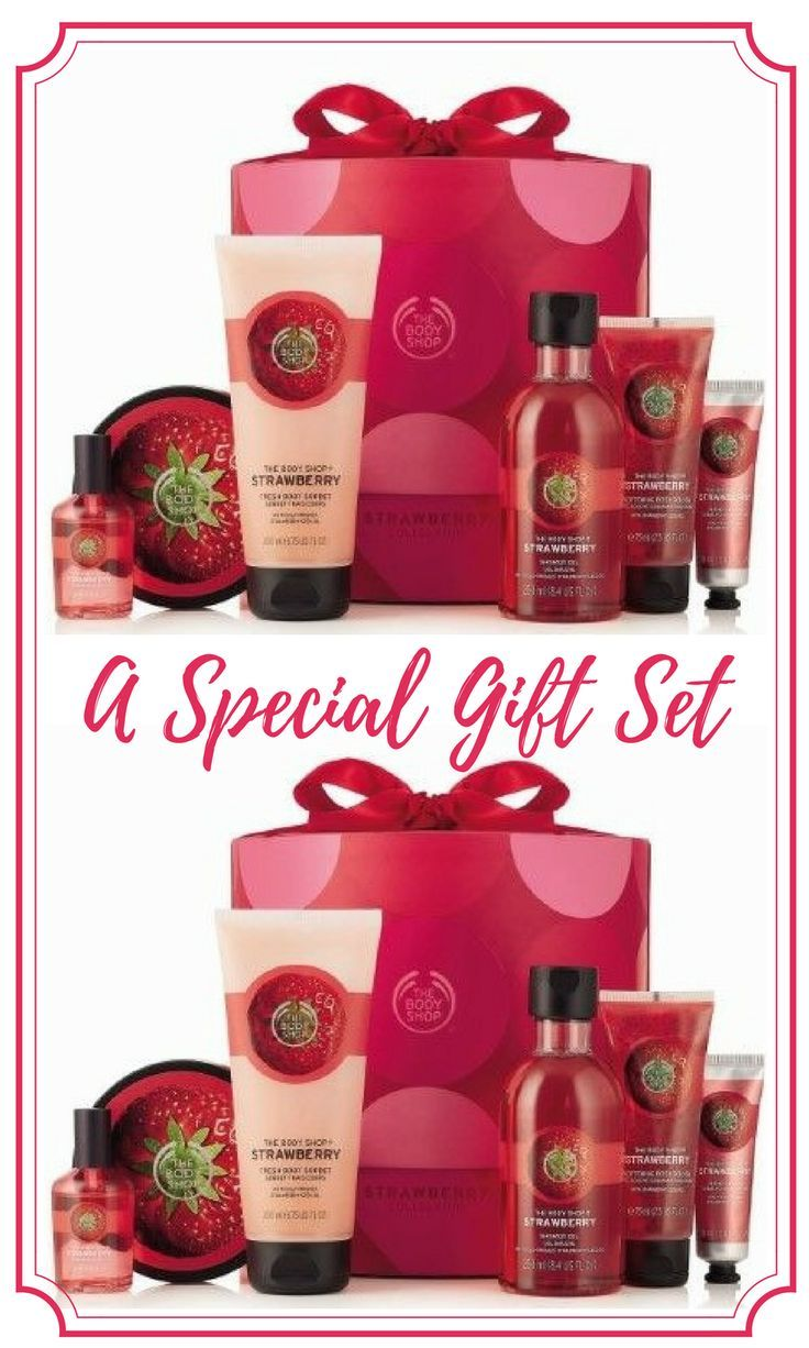 Sweet Gift Set For Mom Wife Or Friend Strawberry Scented Ortment Of Body Products Ad Mothersday