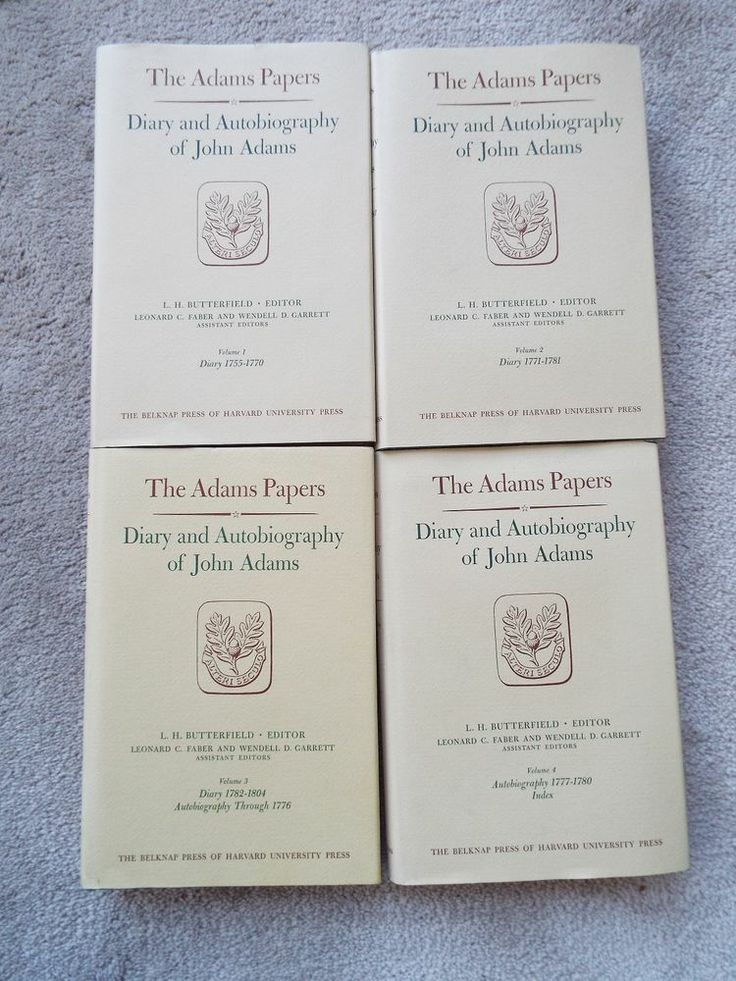 Snatched this one up for a bargain THE JOHN ADAMS PAPERS DIARY amp AUTOBIOGRAPHY PROTObike cz