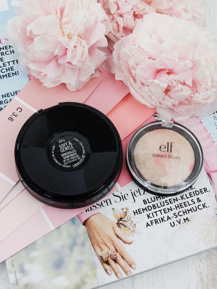 """Hier ist mein neustes Mac Dupe: Das Mac Soft and Gentle Dupe von elf. Auf meinem Beauty Blog bekommt ihr den Vergleich mit dem elf Baked Blush """"pinktastic""""."""