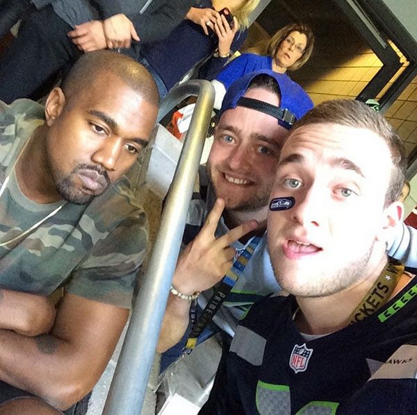 Kanye West Rudely Disses Seahawks Fans At The Super Bowl – Pic