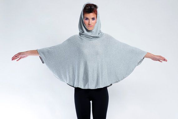 CLICK TODAY TO SEE DETAILS. Womens Hooded Cape Poncho Hoodie Sleeveless Hooded by eeshadesign
