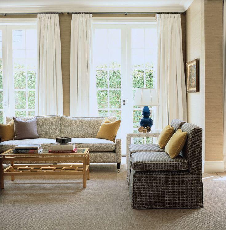 30 Timeless Taupe Home Décor Ideas: Diane Bergeron Interiors Living-room-royal-blue-ceramic