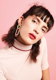 SS17 Geometry inspired Asymmetrical EARRINGS  Every ring, bangle, earring, brooch and necklace seems to be a little piece of art, inspired by the graphic design of the '70s, especially Burton Kramer, and the mind-boggling visuality of Op Art. Lines and stripes, strict geometrical shapes, planes and spatial proportions are all participants in the game. Layers, colours and compositions add new dimensions to strict graphic rules. Pieces of simply, colourful plastic turn into elements of art…