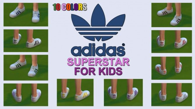 Sneakers for Kids 10 Colors by ironleo78 at Mod The Sims via Sims 4 Updates