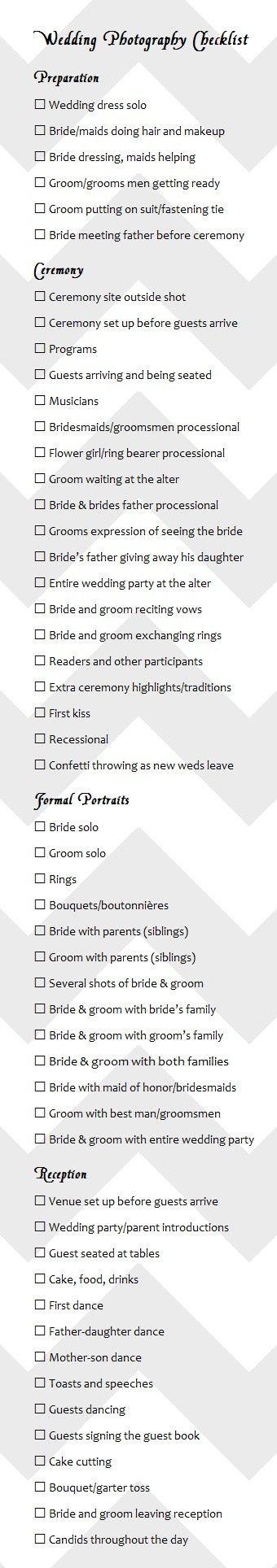 wedding photography checklist best photos - wedding photography  - cuteweddingideas.com