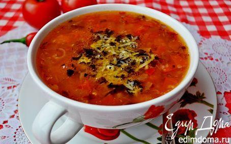 Рецепт – Острый гречневый суп с помидорами и базиликово-пармезановой заправкой