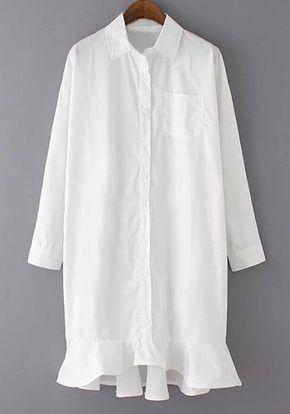 Resort Dress Shirt with Bottom Details White More