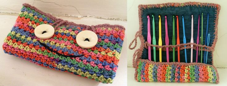 crochet case with face