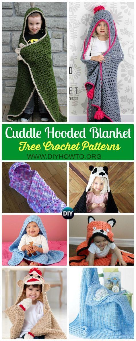 Crochet Hooded Blanket Free Patterns Tutorials Afghans Crochet