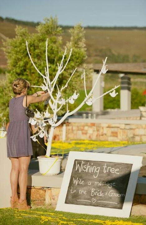 Since you love gardening, have a wishing tree instead of a guest book! Also help decorate the gym:)