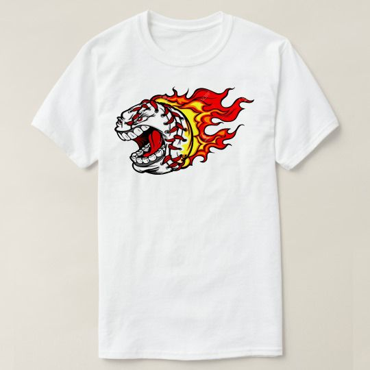 Angry Face Cartoon Baseball Custom Shirts