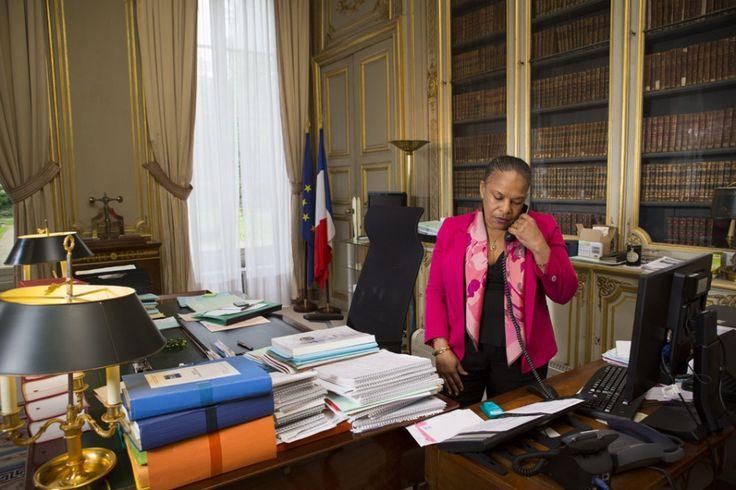 Christiane Taubira refait ses cartons