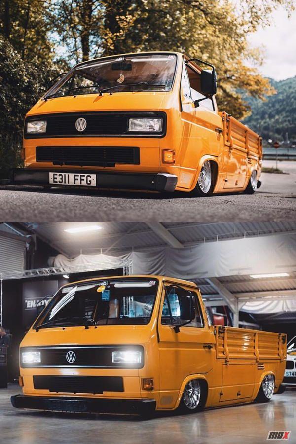 Hydraulic Body dropped Yellow Volkswagen T25 truck | Vw vans