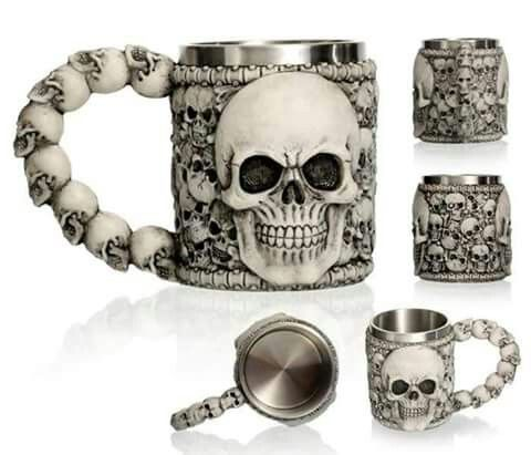 Be Bad Ass And Get Ready To Kick Out Your Thirst In This U201cBad To The Boneu201d  Skull Mug!