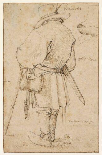 Szkic chłopa, Roelant Savery, XVII wiek.