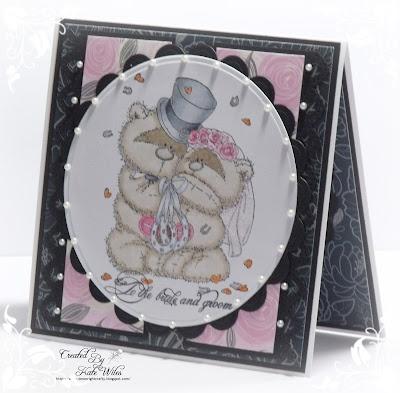 Handmade Wedding Card, To the Bride and Groom