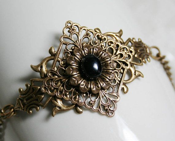OPHELIA'S GARDEN Victorian fantasy bracelet by TheVictorianGarden