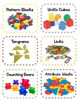 **FREE** Classroom Math Manipulatives Labels @Katie Hrubec Hrubec Schmeltzer Schmeltzer Schmeltzer Schmeltzer Pribula