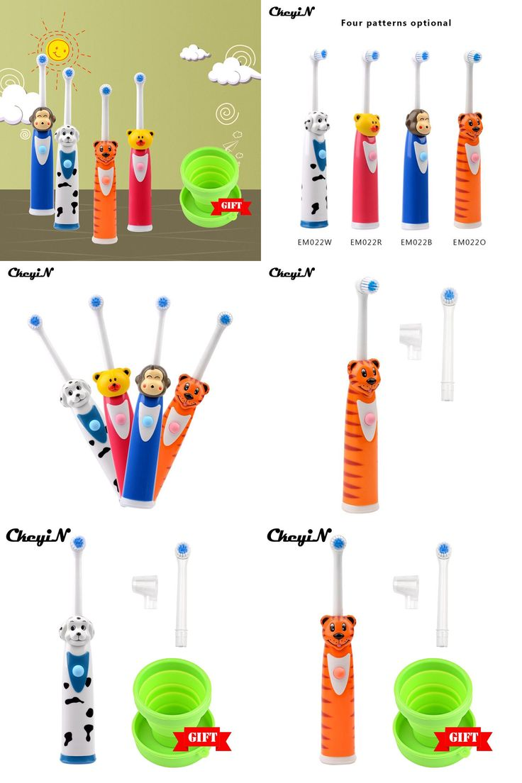 [Visit to Buy] CkeyiN Cartoon Children Tooth Brush Electric Toothbrush For Kids Electric Massage Ultrasonic Toothbrush Teeth Care Oral Hygiene #Advertisement