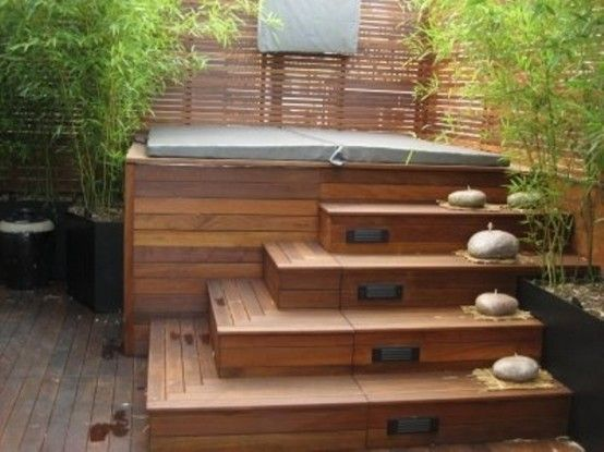 17 best ideas about hot tub privacy on pinterest privacy for Construir jacuzzi exterior