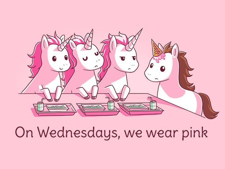 On Wednesdays, we wear pink.