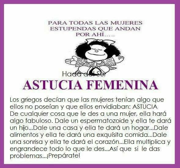 Astucia femenina con mafalda
