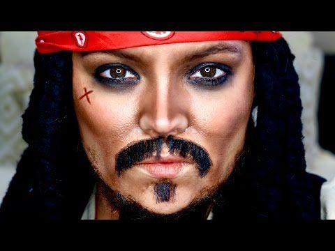 Captain Jack Sparrow Makeup Tutorial & Transformation   Brianna Fox - YouTube