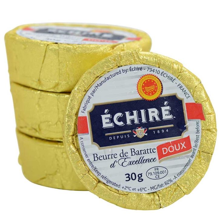 A famed artisan French butter, from the milk of cows of the small village of Poitiers and La Rochelle. Known as one of the best butters in France, Echire butter is served in the finest dining establishments (which is why the French covet this butter