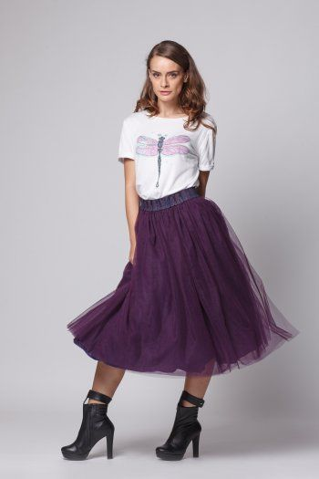 Happy Friday - Star of change- Violet tulle skirt