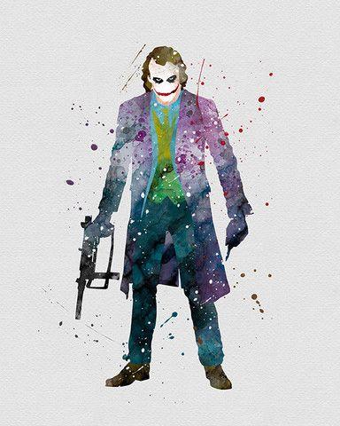The Joker Marvel Watercolor Art - VividEditions