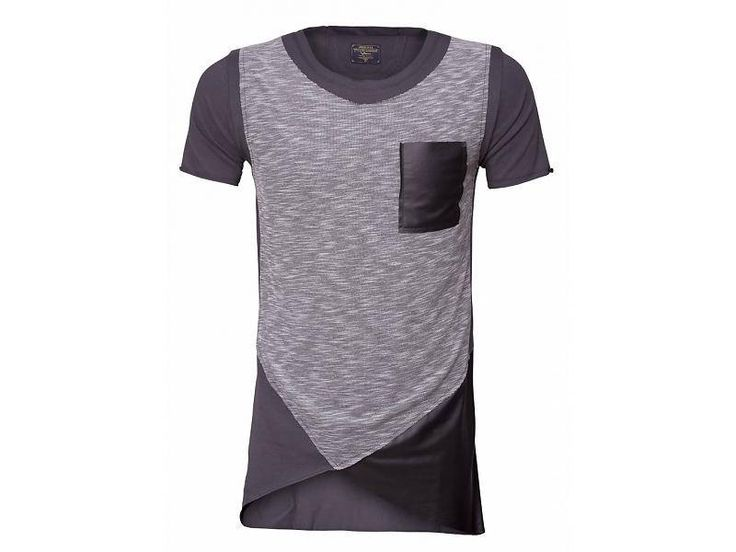 Longshirt gray leather for men. Now for €29,99! Get it ! #mens #fashion #clothing #dope #tshirt #tshirts #sale #shopping