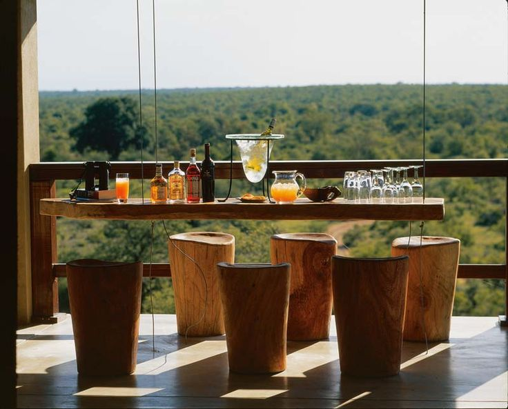 "The ""hanging bar""....perfect for your sundowner drink"