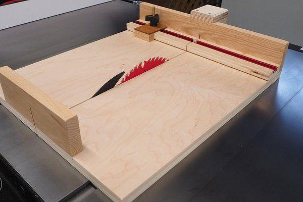 Small Parts Crosscut Sled Miter Attachment Portable Table Saw Small Table Saw Diy Table Saw