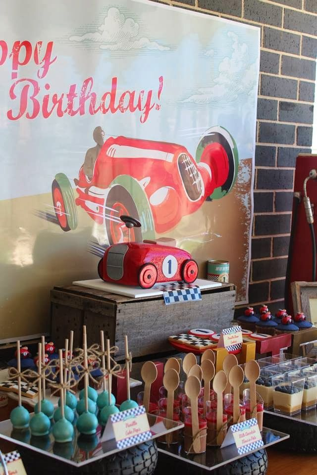 Party Inspirations: Vintage Car themed Dessert Table by Rainbow & Lollipops