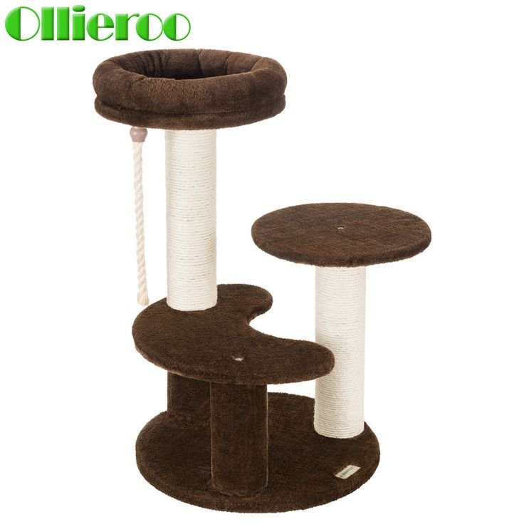 Ollieroo Small Cat Tree Condo Playhouse Scratch Furniture Tower