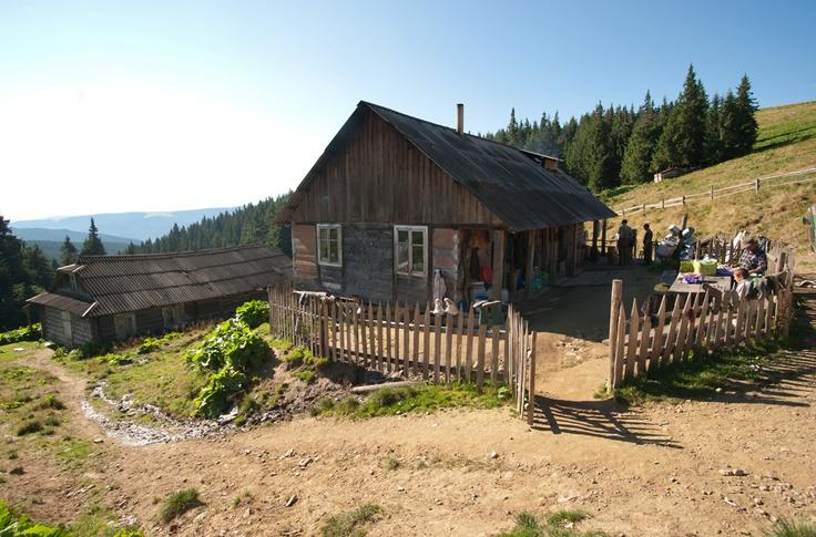 Shepherd's Hut in Carpathian Mountains