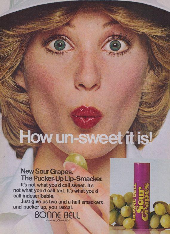 Bonne Bell Sour Grapes Lip-Smacker Lip Balm Retro by AdVintageCom